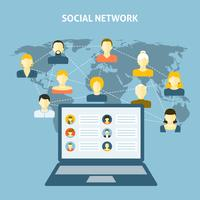 Socialt nätverkskoncept vektor