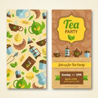 Tea-Party-Ankündigung 2 vertikale Banner vektor