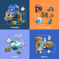 Transport och leveranssymboler