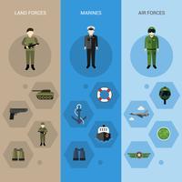 Militärische Banner vertikal
