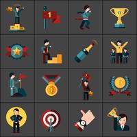 Succes ikoner ställa in vektor