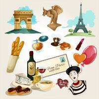 Paris touristisches Set