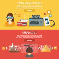 virtuella glasbanner vektor