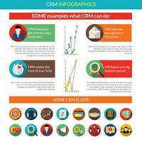Crm Infografiken Set vektor