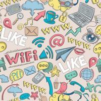 Sociala Doodle Seamless
