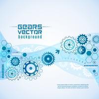 Verschiedene Gänge mit Zahnrad-Hintergrund vektor