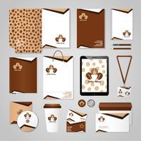Kaffehusidentitet vektor