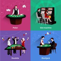 Människor I Casino Set