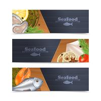 Meeresfrüchte-Banner-Set vektor
