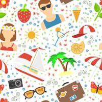 Sommar och semester bakgrund vektor