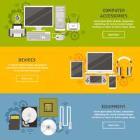 Flache Fahnen-Satz der Computerausrüstung