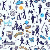 Fysisk aktivitet sömlös mönster