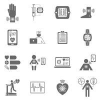 Slitstarka smart elektroniska patchplatta ikoner