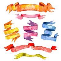 Vattenfärg Vintage Ribbon Set