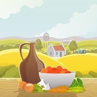 Landskapslandskap abstrakt illustrationaffisch