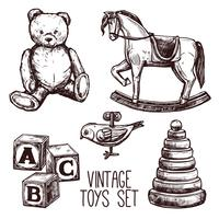 Vintage Leksaker Set vektor