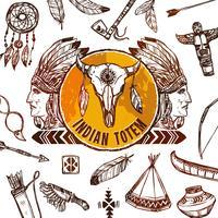 Hintergrund der amerikanischen Ureinwohner