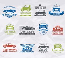 Auto Logo Briefmarken vektor