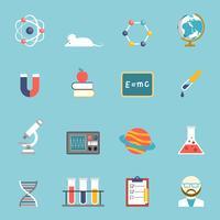 Vetenskap och forskning ikonuppsättning
