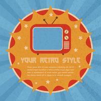 Plakat im Retro-Stil