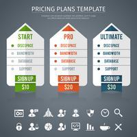 Preisplanvorlage vektor