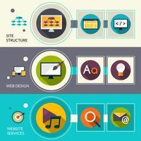 Webbdesign banners vektor