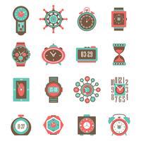 klocka ikonuppsättning