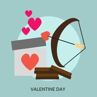 Alla hjärtans dag konceptuell illustration Design vektor