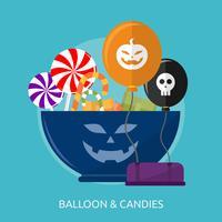 Ballong och godis Konceptuell illustration Design vektor