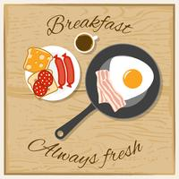 Frukostfärg Flat Concept vektor