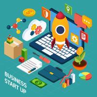 digital marknadsföring isometrisk koncept