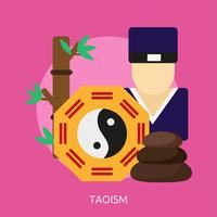 Taoismus konzeptionelle Illustration Design