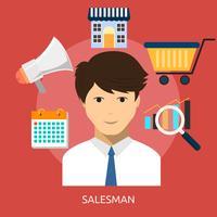 Försäljare Konceptuell illustration Design vektor
