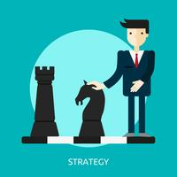 Strategie konzeptionelle Illustration Design