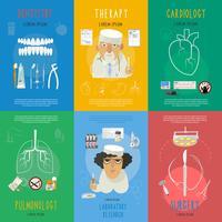 Ikonenzusammensetzungsplakat der Medizin flaches