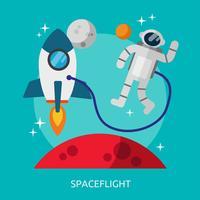 Spaceflight Konceptuell illustration Design vektor