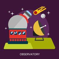 Observatorium konzeptionelle Illustration Design