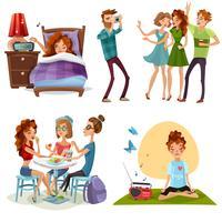 God dag med vänner 4 ikoner
