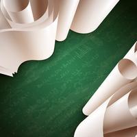 3d Papierrolle Hintergrund vektor