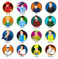 avatar professions ikonuppsättning