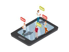 Mobiles simsendes Smartphone-Konzept