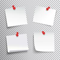 Festgesteckter Papiersatz