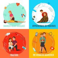 Notfall-Erste-Hilfe-Leute-Konzept vektor