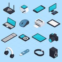 isometriska trådlösa mobila enheter vektor