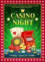 natt kasino ljus affisch