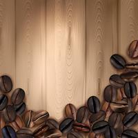 Kaffebönor Realistisk bakgrund vektor