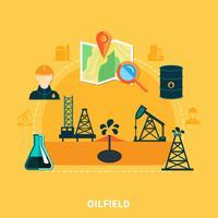 Oljeackumulering platt sammansättning