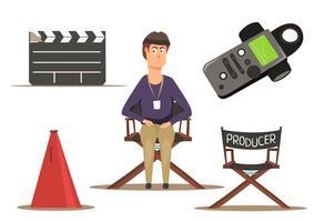 Filmgruppe einstellen vektor
