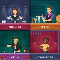 Barman 2x2 Designkoncept vektor