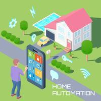 Konzept für die Hausautomation vektor